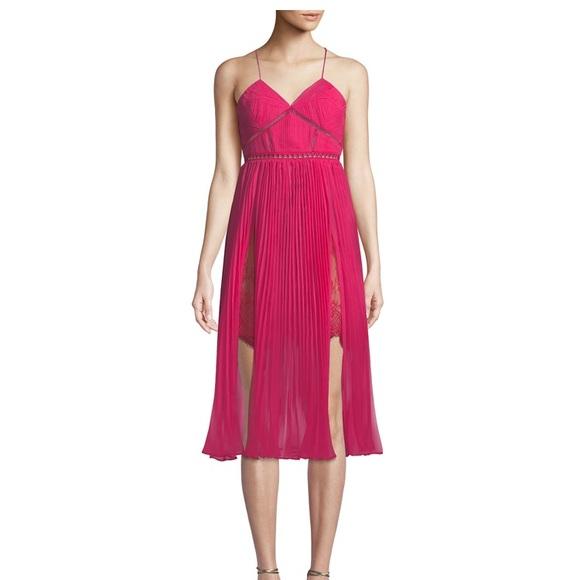 99bd3e6440dc Self-Portrait Dresses | Self Portrait Fuchsia Chiffon Midi Dress ...
